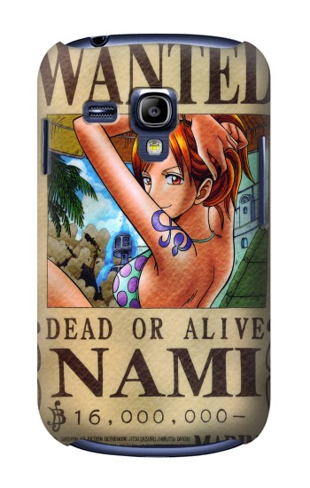 Printed One Piece NAMI Wanted Poster Samsung Galaxy S3 mini Case