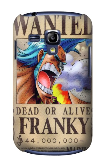 Printed One Piece FRANKY Wanted Poster Samsung Galaxy S3 mini Case