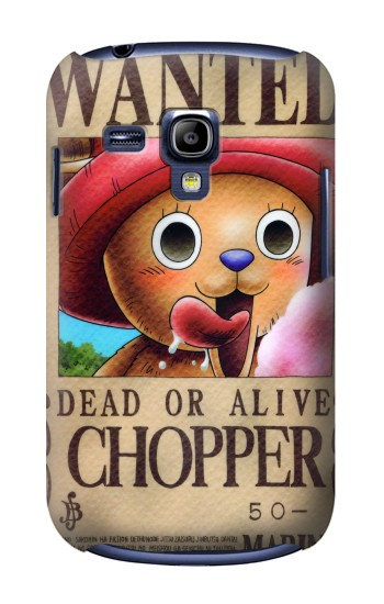 Printed One Piece CHOPPER Wanted Poster Samsung Galaxy S3 mini Case