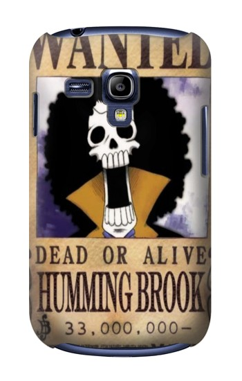 Printed One Piece Humming Brook Wanted Poster Samsung Galaxy S3 mini Case