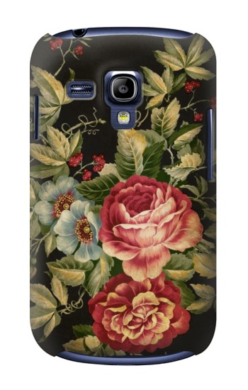 Printed Vintage Antique Roses Samsung Galaxy S3 mini Case