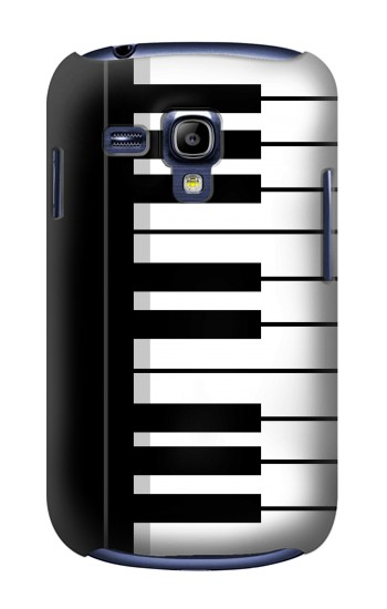 Printed Black and White Piano Keyboard Samsung Galaxy S3 mini Case