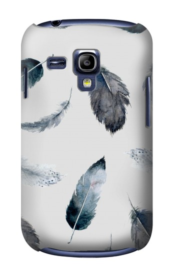 Printed Feather Paint Pattern Samsung Galaxy S3 mini Case