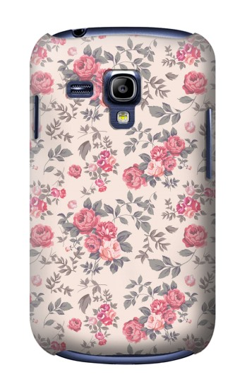 Printed Vintage Rose Pattern Samsung Galaxy S3 mini Case