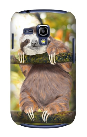 Printed Cute Baby Sloth Paint Samsung Galaxy S3 mini Case