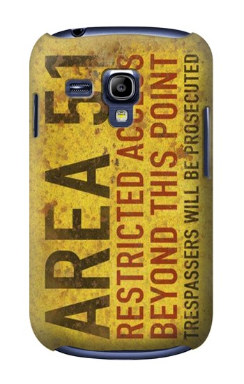 Printed Area 51 Restricted Access Warning Sign Samsung Galaxy S3 mini Case