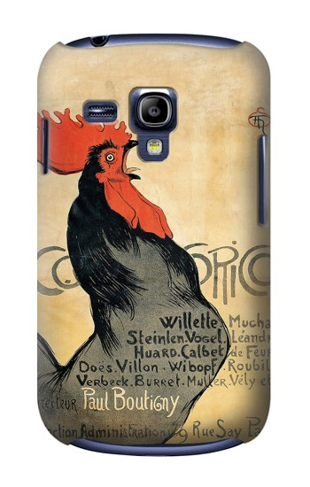 Printed Cocorico Rooster Vintage French Poster Samsung Galaxy S3 mini Case