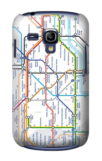 Printed London Underground Map Samsung Galaxy S3 mini Case