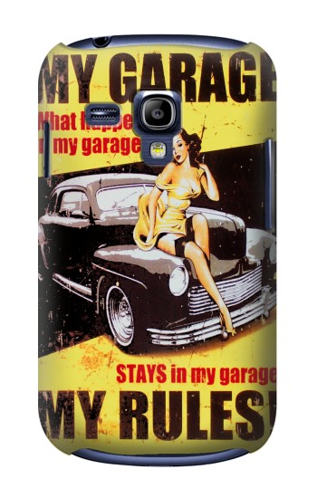 Printed My Garage Pinup Girl Samsung Galaxy S3 mini Case