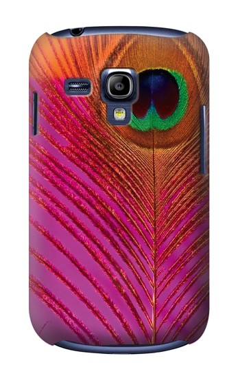 Printed Pink Peacock Feather Samsung Galaxy S3 mini Case