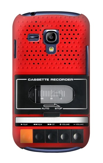 Printed Red Cassette Recorder Graphic Samsung Galaxy S3 mini Case
