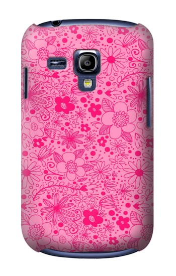Printed Pink Flower Pattern Samsung Galaxy S3 mini Case