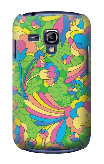 Printed Flower Line Art Pattern Samsung Galaxy S3 mini Case