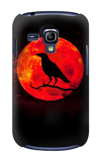 Printed Crow Red Moon Samsung Galaxy S3 mini Case