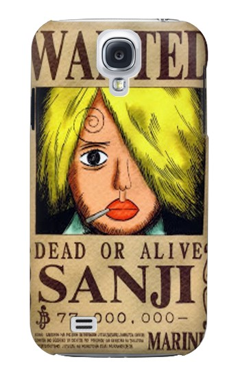 Printed One Piece Sanji Wanted Poster Samsung Galaxy S4 mini Case