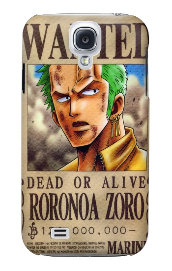 Printed One Piece Roronoa Zoro Wanted Poster Samsung Galaxy S4 mini Case
