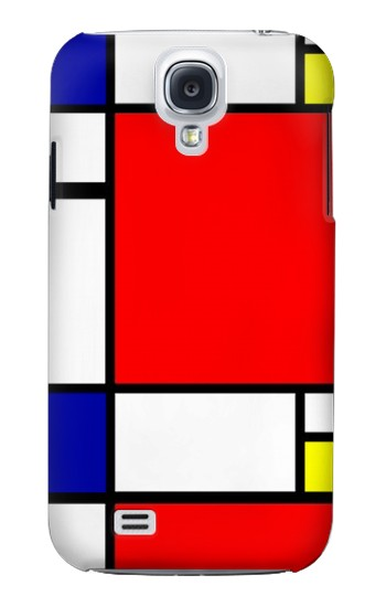 Printed Composition Red Blue Yellow Samsung Galaxy S4 mini Case