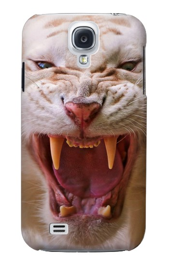 Printed White Saber Toothed Tiger Samsung Galaxy S4 mini Case