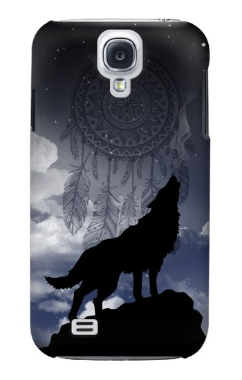 Printed Dream Catcher Wolf Howling Samsung Galaxy S4 mini Case