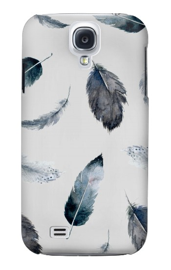 Printed Feather Paint Pattern Samsung Galaxy S4 mini Case