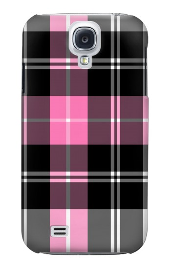 Printed Pink Plaid Pattern Samsung Galaxy S4 mini Case