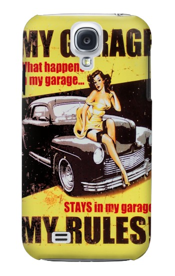 Printed My Garage Pinup Girl Samsung Galaxy S4 mini Case