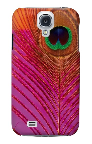 Printed Pink Peacock Feather Samsung Galaxy S4 mini Case