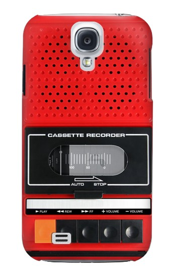 Printed Red Cassette Recorder Graphic Samsung Galaxy S4 mini Case