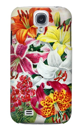 Printed Retro Art Flowers Samsung Galaxy S4 mini Case