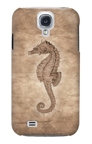Printed Seahorse Old Paper Samsung Galaxy S4 mini Case