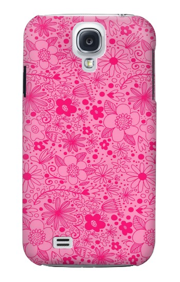 Printed Pink Flower Pattern Samsung Galaxy S4 mini Case