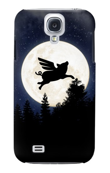 Printed Flying Pig Full Moon Night Samsung Galaxy S4 mini Case