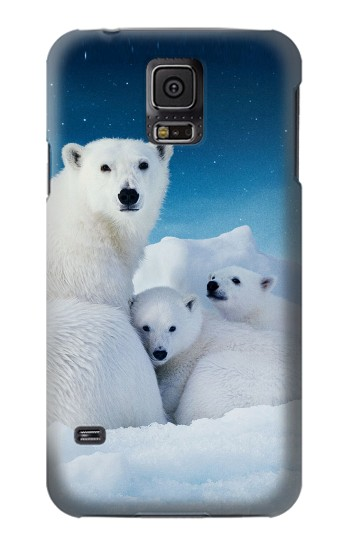 Printed Polar Bear Family Arctic Samsung Galaxy S5 mini Case