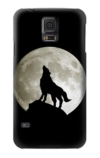 Printed Wolf Howling at The Moon Samsung Galaxy S5 mini Case