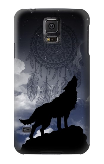 Printed Dream Catcher Wolf Howling Samsung Galaxy S5 mini Case