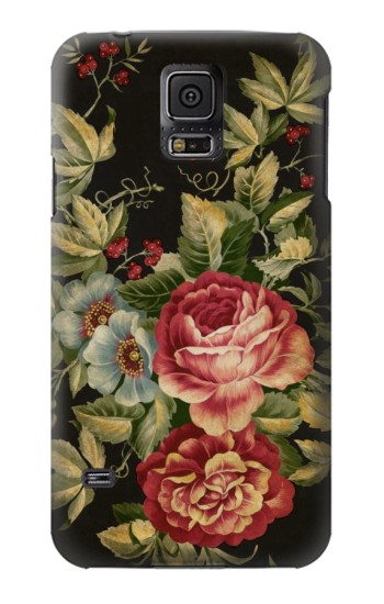 Printed Vintage Antique Roses Samsung Galaxy S5 mini Case