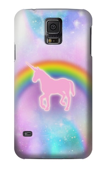 Printed Rainbow Unicorn Pastel Sky Samsung Galaxy S5 mini Case