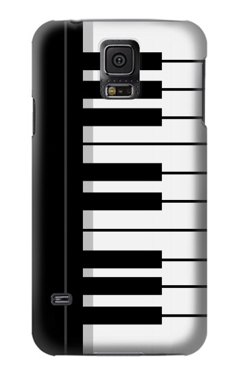 Printed Black and White Piano Keyboard Samsung Galaxy S5 mini Case