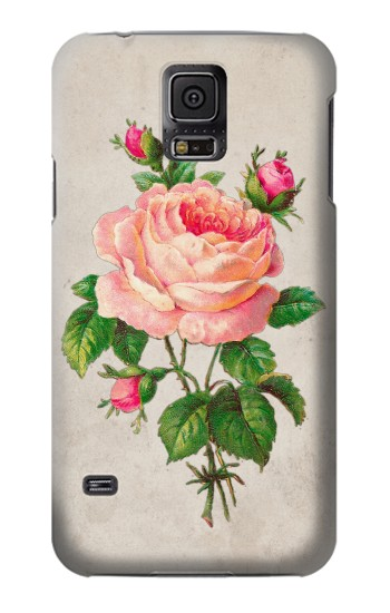 Printed Vintage Pink Rose Samsung Galaxy S5 mini Case
