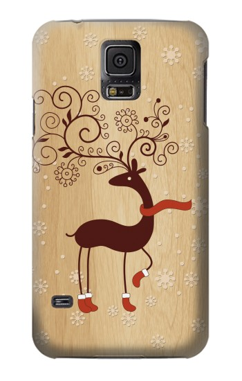 Printed Wooden Raindeer Samsung Galaxy S5 mini Case