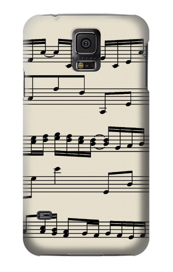 Printed Music Sheet Samsung Galaxy S5 mini Case