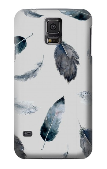 Printed Feather Paint Pattern Samsung Galaxy S5 mini Case