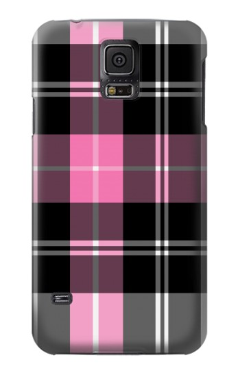 Printed Pink Plaid Pattern Samsung Galaxy S5 mini Case