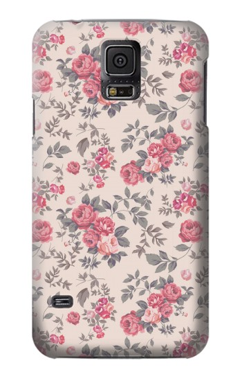 Printed Vintage Rose Pattern Samsung Galaxy S5 mini Case
