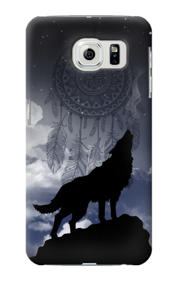 Printed Dream Catcher Wolf Howling Samsung Galaxy S6 edge Case
