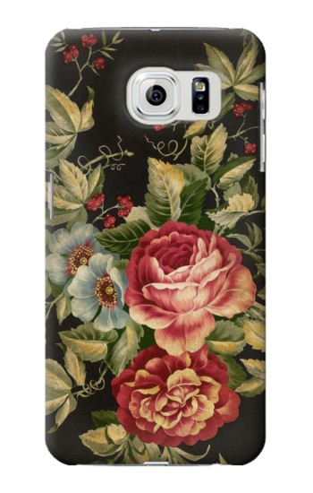 Printed Vintage Antique Roses Samsung Galaxy S6 edge Case