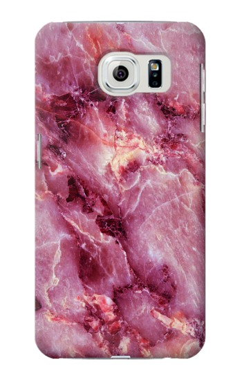 Printed Pink Marble Texture Samsung Galaxy S6 edge Case