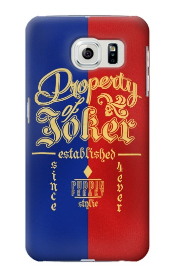 Printed Property of Joker Puddin Freaky Style Samsung Galaxy S6 edge Case