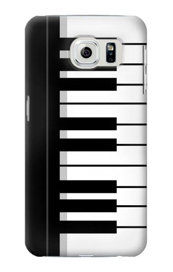 Printed Black and White Piano Keyboard Samsung Galaxy S6 edge Case