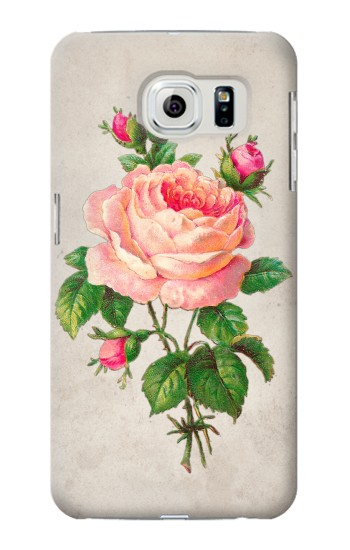 Printed Vintage Pink Rose Samsung Galaxy S6 edge Case